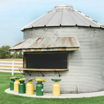 DIY bar from vacant grain silo