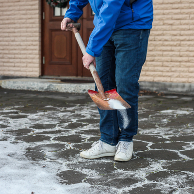 Salting your driveway is essential to your safety.